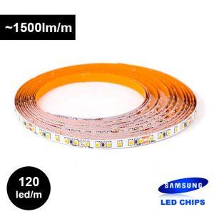 12W/m 24V LED-nauha, Samsungin ledit ja 5-vuoden takuu