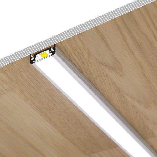 LED-profiili PINTA10 LED-nauhan asennus