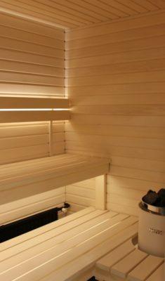 Saunan valaistus led-valoilla