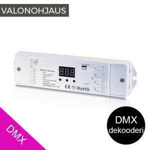 DMX dekooderi LED-valoille