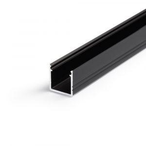 tyylikäs led-profiili musta led-nauhoille