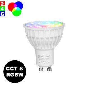Älylamppu GU10 4W LED-lamppu RGB+CCT