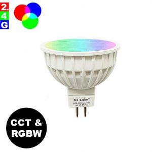 Älylamppu GU5.3 MR16 4W LED-lamppu RGB+CCT