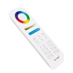 Valkoinen LED-kaukosäädin RGB+CCT