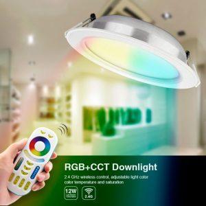 12W RGB+CCT LED-alasvalo 1100lm - WiFi - Smart LED 2.4G