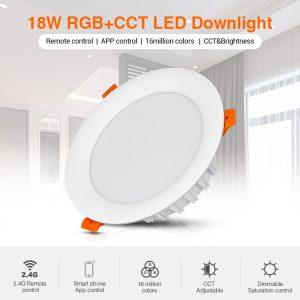 18W RGB+CCT LED-alasvalo 1500lm - WiFi - Smart LED 2.4G