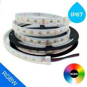 IP67 RGBW LED-nauha 19,2W/m 24V 5m kela, kosteussuojattu