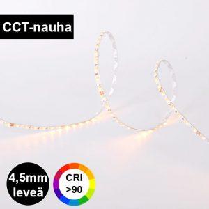 4,5mm leveä CCT värilämpötilasäädettävä led-nauha