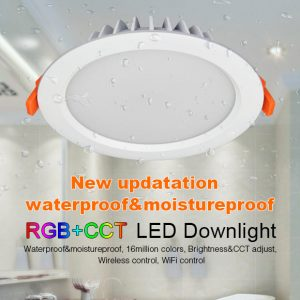 15W RGB+CCT kosteussuojattu LED-alasvalo IP54 2100lm - WiFi - Smart LED 2.4G