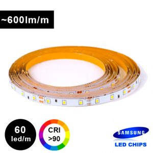 6W/m 12V LED-nauha Saumsung ledit, pitkä takuu