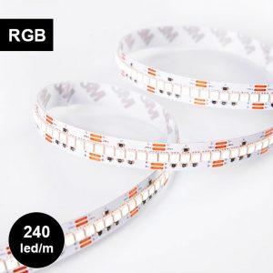 Erittäin tiheä RGB LED-nauha, 240led/m