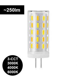 Lisää muistilistalle G4 LED-polttimo 2,5W – 3000K-4000K-6000K SWITCH, 250lm (isokokoinen 45x17mm)