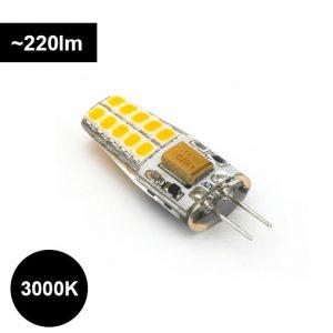 G4 LED-polttimo 2.5W 3000K, 220lm, himmennettävä