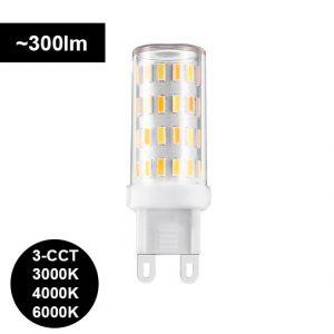 G9 LED-polttimo 3,5W - 3000K-4000K-6000K SWITCH