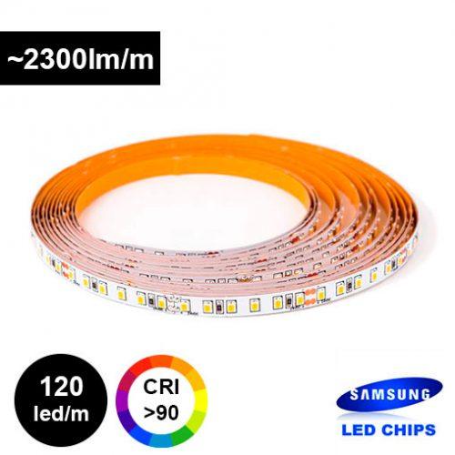 25W/m 12V Samsung LED-nauha supertehokas CRI>90