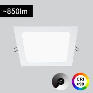 12W LED-paneelivalaisin neliö CRI></noscript>90 TRIAC-himmennettävä