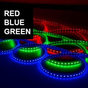 Siniset, punaiset ja vihreät LED-nauhat