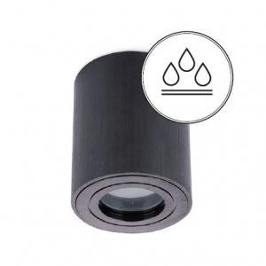 AQUARIUS pyöreä musta kylpyhuonevalaisin IP44