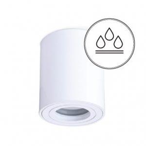 AQUARIUS pyöreä valkoinen kylpyhuonevalaisin IP44