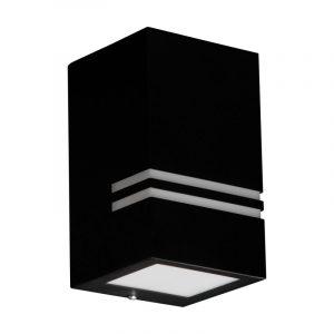 QUAZAR 11 musta seinävalaisin LED GU10 IP44