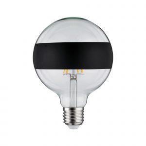 LED-lamppu mustalla koristeraidalla design E27