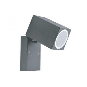 QUAZAR 15 kääntyvä harmaa LED-ulkovalaisin seinään asennettava