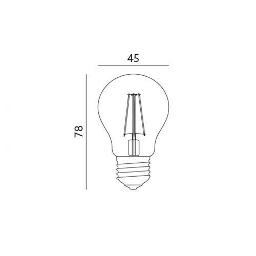 1,3W E27 LED-polttimo mitat