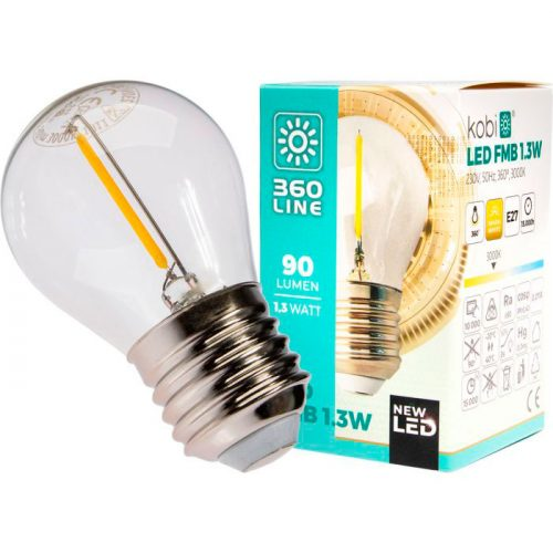 1,3W E27 LED-polttimo pakkaus