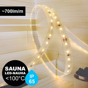 Led-nauha saunaan IP65 max. 100°C
