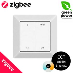Zigbee CCT värilämpötilasäädettävien valojen valokatkaisija Green Power