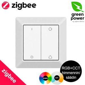 Zigbee GREEN ENERGY 4 in 1 RGB+CCT seinäsäädin