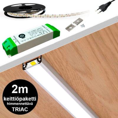 2m valaistuspaketti TRIAC himmennettävällä muuntajalla