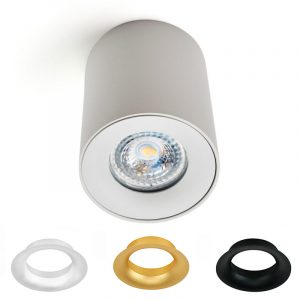 TRIO LED-kattovalaisin GU10 polttimolle valkoinen - vaihdettavilla kansilla