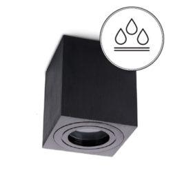 Kylpyhuonevalaisin IP44 musta neliö pinta-asennettava