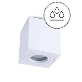 Kylpyhuonevalaisin IP44 valkoinen neliö pinta-asennettava