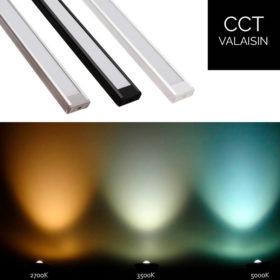 Värilämpötilasäädettävä LED-mittatilausvalaisin 23W/m 24V