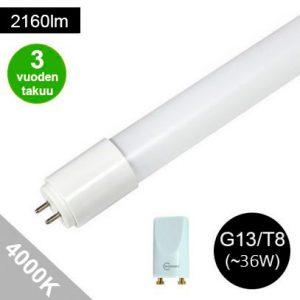 LED loisteputki 120cm 4000K 3 vuoden takuu