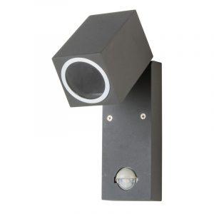 LED-seinävalaisin liiketunnistimella harmaa IP44