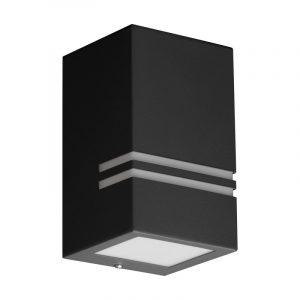 QUAZAR 11 harmaa LED-ulkovalaisin seinäasennus