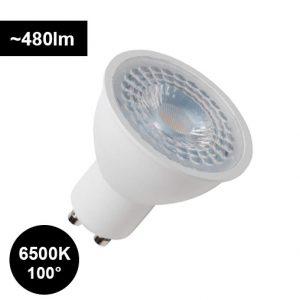 5W 6500K GU10 polttimo laajalla 100° valaistuskulmalla