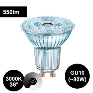 8W GU10 3000K CRI90 led-polttimo