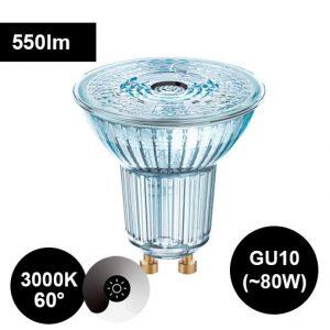 8W GU10 3000K CRI90 led-polttimo laaja valaistuskulma