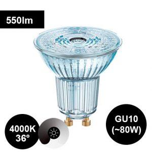 8W GU10 4000K CRI90 led-polttimo