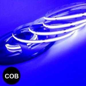 Sininen pisteetön led-valonauha COB
