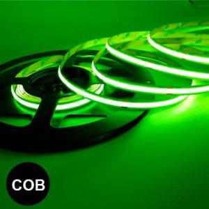Vihreä pisteetön led-valonauha COB