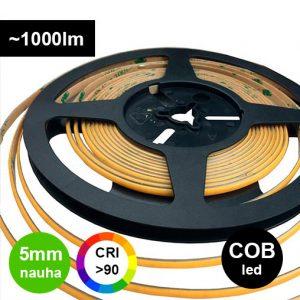 COB 5mm kapea LED-nauha pisteetön 10W/m 24V