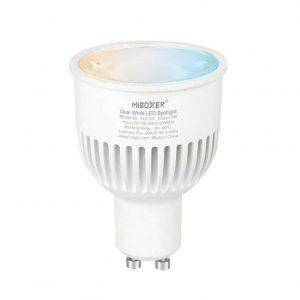 GU10 6W LED-polttimo CCT värilämpötilasäädettävä