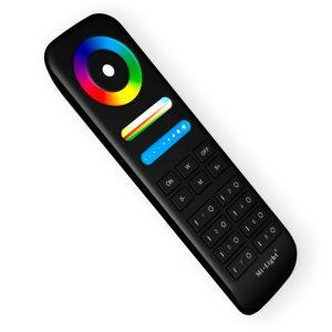 Musta LED-kaukosäädin RGB+CCT