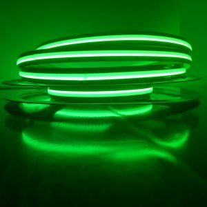 Vihreä pisteetön LED-nauha 14W/m 24V COB