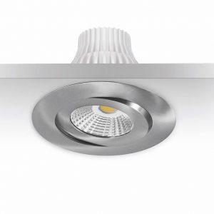 10w LED-alasvalo harjattu teräs IP44 780lm himmenettävä